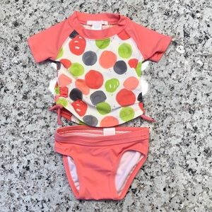 🎉 Polka Dot Baby 2 Piece Swimsuit